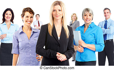 Business people team. - Group of Business people team...