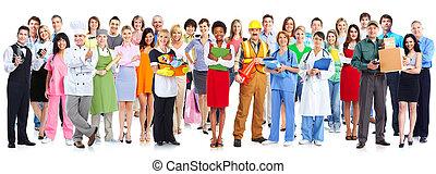 grupo, de, trabajadores, personas.,