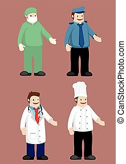 Work Attire for Professionals Vector Illustration - Uniform...