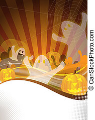 halloween party flyer - abstract halloween party flyer for...