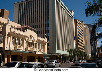 Street of Durban - Typical street of central Durban. South...
