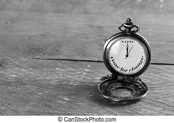 time for change - ''Now is the time for change'' written on...