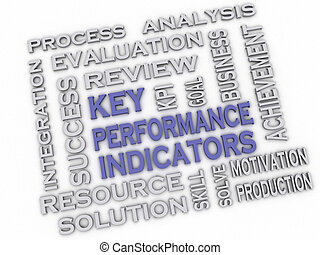 3d image Key Performance Indicators issues concept word...