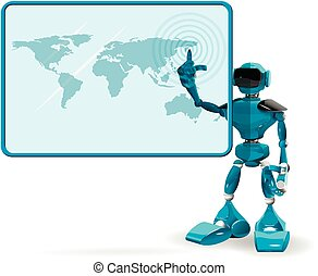Blue Robot and Screen