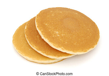 StillLife-22-0003 - Stack of three Scotch pancakes isolated...