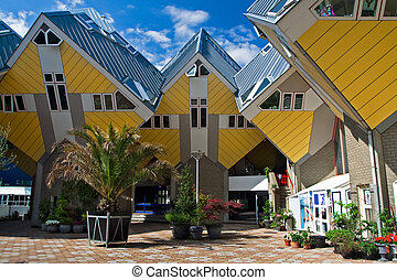 Cubic houses in Rotterdam The Netherlands