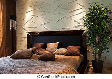 wide bed - nice and wide bed in modern flat