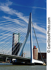 Erasmus bridge in Rotterdam the Netherlands, Europe