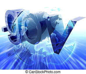 Dot gov internet web url Americas worldwide illustration