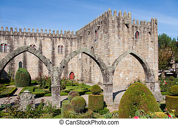 Gardens of the castle of Braga (Portugal)