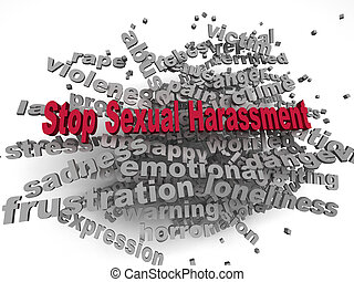 3d image Stop Sexual Harassment issues concept word cloud...