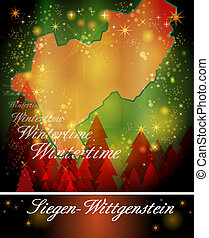 mapa, Od, Siegen-Wittgenstein,