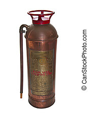 Fire Extinguisher - Antique fire extinguisher isolated over...
