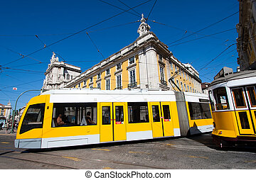 Streetcar in Lisboa Portugal