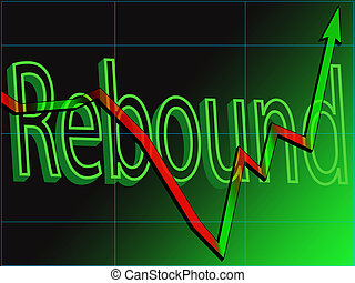 Stock Market Rebound - Abstract view of a stock market chart...