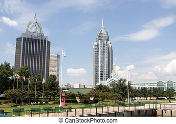 Mobile, Alabama Skyline - Mobile, Alabama\'s skyline looking...