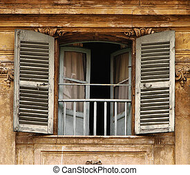 Shutters and doors - Old vintage shutters and doors