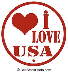 I Love USA-stamp