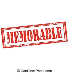 Memorable-stamp - Grunge rubber stamp with text...