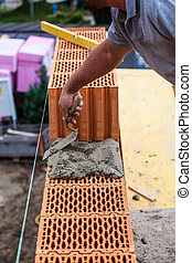 construction worker on a job site - anonymous construction...