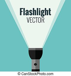 Flashlight isolated made in vector For your design
