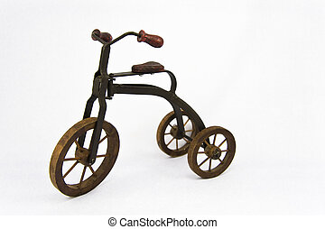 Toy Tricycle - Vintage model tricycle on isollated...