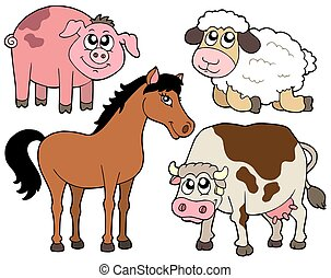 Country animals collection 2 - isolated illustration
