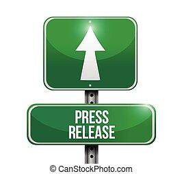 press release road sign illustration