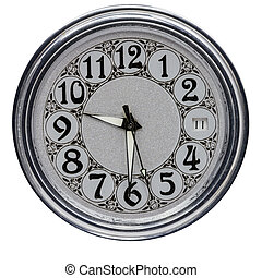 Clock dial. - Clock dial old clock on a white background.