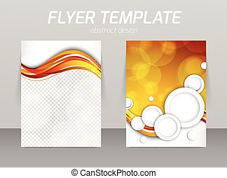 Abstract flyer template design with white circles