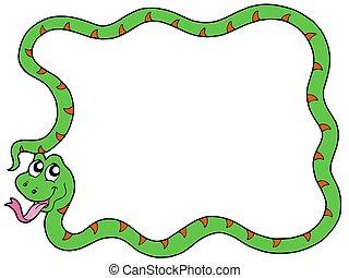 cadre,  2, serpent
