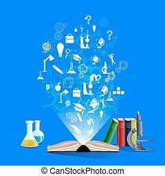 el, concepto, de, educación, Desarrollo, y, science.,...