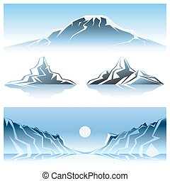 Winter Mountains Graphic Design