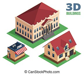 Isometric House Store and Building Designs - Isometric House...