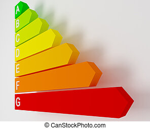 energy value - energy label saver fine 3d image background