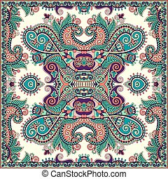 floral paisley bandanna - Traditional ornamental floral...