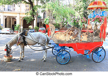 ancient horse drawn carriage india - ancient horse drawn...