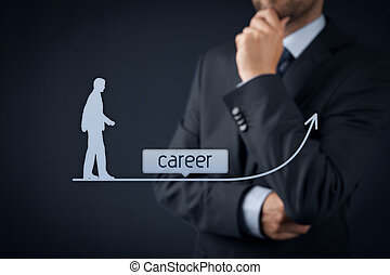 Career concept - human resources officer (HR, personnel)...