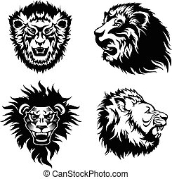 Growling lion tattoo