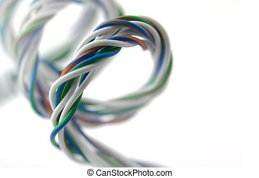 Spiral of colored wires