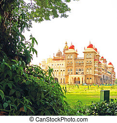Mysore Palace Karnataka india - this huge palace and grounds...