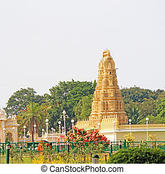 Mysore Palace Karnataka india - gopuram in this huge palace...