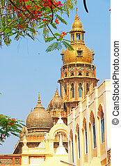 Mysore Palace Karnataka india - spires on palace in this...