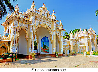 Mysore Palace Karnataka india - gateway in this huge palace...