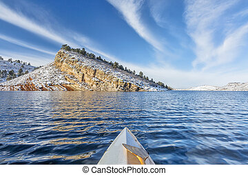 winter paddling in Colorado