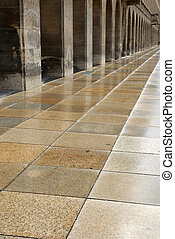 Vanishing point - Architectural detail of several arcades in...