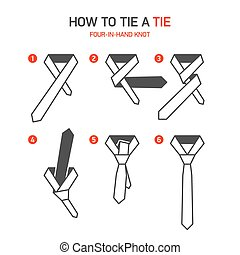 How to tie a tie instructions - Four-In-Hand knot