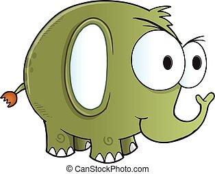 Tough Green Elephant Vector art