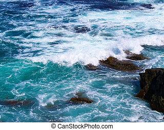 Water Breaking on the rocks