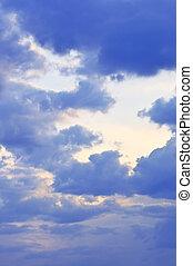 陽光, 天空, 有暴風雨